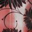 ปลอกหมอนอิงผ้าไหม สีแดงเลือดหมูพิมพ์ลายดอกไม้ thumbnail 2