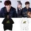 เสื้อยืด (T-Shirt) ลายใบไม้ แบบ Minhyun thumbnail 1