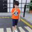 เสื้อ สีส้ม แพ็ค 5 ชุด ไซส์ 120-130-140-150-160 (เลือกไซส์ได้) thumbnail 2