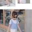 ชุดเดรสสีขาว+เสื้อกั๊กลายทางสีฟ้า [size 2y-3y-4y-5y-6y] thumbnail 5