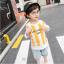 เสื้อ+กางเกง สีเหลือง แพ็ค 5 ชุด ไซส์ 100-110-120-130-140 (เลือกไซส์ได้) thumbnail 3