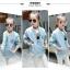เสื้อแจ็คเก็ตสีฟ้า [size 5y-6y-7y-8y-9y-10y] thumbnail 4