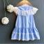 ชุดกระโปรง สีน้ำเงิน แพ็ค 5ชุด ไซส์ 100-110-120-130-140 thumbnail 2