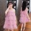 ชุดกระโปรง สีชมพู แพ็ค 5 ชุด ไซส์ 110-120-130-140-150 (เลือกไซส์ได้) thumbnail 4