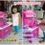 ครัวชุดใหญ่สีชมพู ครัวของเด็กพร้อมผักผลไม้และเนื้อสัตว์+ปลา เตาแก๊สขนาดใหญ่ ขนาด 66*33*75 ซม. thumbnail 18