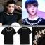 เสื้อยืดสีดำปักลายรอบคอเสื้อ แบบ Jungkook thumbnail 1