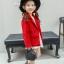 เสื้อแจ็คเก็ตแขนยาวสีแดง [size 2y-3y-4y-5y-6y] thumbnail 3