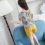 เสื้อ+กางเกง สีเหลือง แพ็ค 6 ชุด ไซส์ 110-120-130-140-150-160 (เลือกไซส์ได้) thumbnail 6