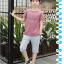 เสื้อ+กางเกง สีน้ำตาล แพ็ค 5 ชุด ไซส์ 130-140-150-160-170 (เลือกไซส์ได้) thumbnail 3