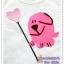 เสื้อยืดเด็ก ลายหมาถือลูกโป่ง สีชมพู Size M thumbnail 2