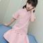 เสื้อ+กระโปรง สีขมพู แพ็ค 5 ชุด ไซส์ 110-120-130-140-150 (เลือกไซส์ได้) thumbnail 1