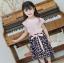เสื้อ+กางเกง สีชมพู แพ็ค 5 ชุด ไซส์ 100-110-120-130-140 (เลือกไซส์ได้) thumbnail 1