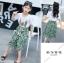 เสื้อ+กางเกง สีเขียว แพ็ค 6 ชุด ไซส์ 110-120-130-140-150-160 (เลือกไซส์ได้) thumbnail 7