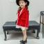 เสื้อแจ็คเก็ตแขนยาวสีแดง [size 2y-3y-4y-5y-6y] thumbnail 2
