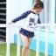 ชุดว่ายน้ำแขนยาวลายดาวของเด็กผู้หญิง แพ็ค 5 ชุด [size 2y-3y-4y-5y-6y] thumbnail 4