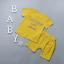 เสื้อ+กางเกง สีเหลือง แพ็ค 4 ชุด ไซส์ 80-90-100-110 thumbnail 2