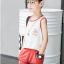เสื้อ+กางเกง สีแดง แพ็ค 5 ชุด ไซส์ 120-130-140-150-160 (เลือกไซส์ได้) thumbnail 4