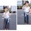 เสื้อ+กางเกง สีฟ้า แพ็ค 6 ชุด ไซส์ 110-120-130-140-150-160 (เลือกไซส์ได้) thumbnail 6