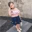 เสื้อ สีชมพู แพ็ค 5ชุด ไซส์ 100-110-120-130-140 thumbnail 3