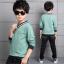 เสื้อ+กางเกง สีเขียว แพ็ค 4 ชุด ไซส์ 120-130-140-150 (เลือกไซส์ได้) thumbnail 2