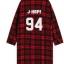 เสื้อคลุมลายสก็อตสีแดง BTS thumbnail 7