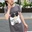 เสื้อ สีเทา แพ็ค 5 ชุด ไซส์ 120-130-140-150-160 (เลือกไซส์ได้) thumbnail 4