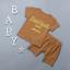 เสื้อ+กางเกง สีน้ำตาล แพ็ค 4 ชุด ไซส์ 80-90-100-110 thumbnail 2