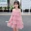 ชุดกระโปรง สีชมพู แพ็ค 5 ชุด ไซส์ 110-120-130-140-150 (เลือกไซส์ได้) thumbnail 6