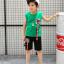 เสื้อ+กางเกง สีเขียว แพ็ค 5 ชุด ไซส์ 120-130-140-150-160 (เลือกไซส์ได้) thumbnail 4