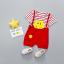 เสื้อ+กางเกง สีแดง แพ็ค 4 ชุด ไซส์ 80-90-100-110 thumbnail 1