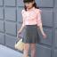 เสื้อ สีชมพู แพ็ค 5 ชุด ไซส์ 120-130-140-150-160 (เลือกไซส์ได้) thumbnail 3