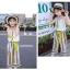 เสื้อ+กางเกง สีเหลือง แพ็ค 6 ชุด ไซส์ 110-120-130-140-150-160 (เลือกไซส์ได้) thumbnail 7