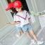 เสื้อ+กางเกง สีขาว แพ็ค 5 ชุด ไซส์ 120-130-140-150-160 (เลือกไซส์ได้) thumbnail 3