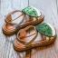 รองเท้าเด็กแฟชั่น สีเขียว แพ็ค 5 คู่ ไซต์ 21-22-23-24-25 thumbnail 2