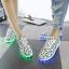 รองเท้าผ้าใบมีไฟ LED ลายโน้ตดนตรี (เปลี่ยนสีได้ 7 สี) thumbnail 4