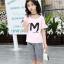 เสื้อ+กางเกง สีชมพู แพ็ค 6 ชุด ไซส์ 110-120-130-140-150-160 (เลือกไซส์ได้) thumbnail 2