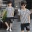 เสื้อ+กางเกง สีขาว แพ็ค 5 ชุด ไซส์ 130-140-150-160-170 (เลือกไซส์ได้) thumbnail 1