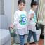 เสื้อ สีขาว แพ็ค 5 ชุด ไซส์ 120-130-140-150-160 (เลือกไซส์ได้) thumbnail 5