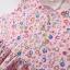 ชุดเดรสสีชมพูลายดอกไม้เว้าด้านหลัง แพ็ค 5 ชุด [size 6m-1y-18m-2y-3y] thumbnail 3