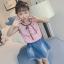 เสื้อ+กระโปรง สีชมพู แพ็ค 5 ชุด ไซส์ 120-130-140-150-160 (เลือกไซส์ได้) thumbnail 2