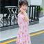ชุดกระโปรง สีชมพู แพ็ค 5 ชุด ไซส์ 120-130-140-150-160 (เลือกไซส์ได้) thumbnail 3
