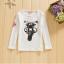 เสื้อ สีขาว แพ็ค 5ชุด ไซส์ 100-110-120-130-140 thumbnail 3