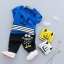 ชุดเซตเสื้อสีน้ำเงินลายมอนสเตอร์+กางเกงสีดำ แพ็ค 4 ชุด [size 6m-1y-2y-3y] thumbnail 1