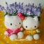 เซ็ตคู่ 2 ชิ้น เฮลโหลคิตตี้&แดเนียล Mcdonald's Hello Kitty & Dear Daniel Chinese Costume ( wisdom of Love 1999) thumbnail 2