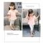 ชุดเซตเสื้อสีชมพูอ่อน+กางเกงสีขาว แพ็ค 5 ชุด [size 6m-1y-18m-2y-3y] thumbnail 3