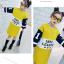 เสื้อยาว สีเหลือง แพ็ค 5 ชุด ไซส์ 120-130-140-150-160 (เลือกไซส์ได้) thumbnail 2