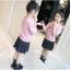 ชุดกระโปรง สีชมพู แพ็ค 4 ชุด ไซส์ 110-120-130-140 (เลือกไซส์ได้) thumbnail 4