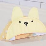 หมวกหูกระต่ายสีเหลือง Free size