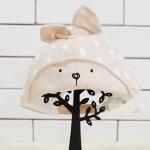 หมวก Bunny หูตั้ง สีครีม Free size