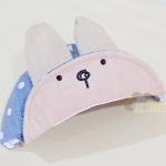 หมวกหูกระต่ายสีฟ้า Free size